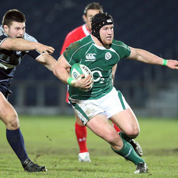 Leinster flanker Sean O'Brien in action for Ireland 'A'
