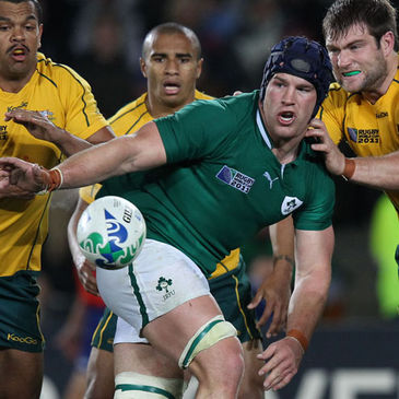 Sean O'Brien in action against Australia