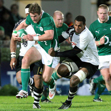 Sean O'Brien in action against Fiji