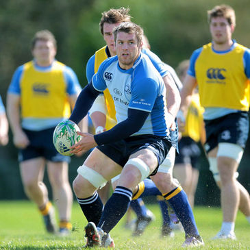Sean O'Brien training with the Leinster squad