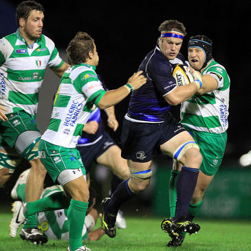 Sean O'Brien in action for Leinster against Treviso