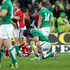 Flanker Sean O'Brien gathers his thoughts as Ireland's World Cup journey grounds to a halt in Wellington
