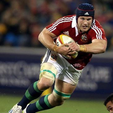 Sean O'Brien in action for the Lions