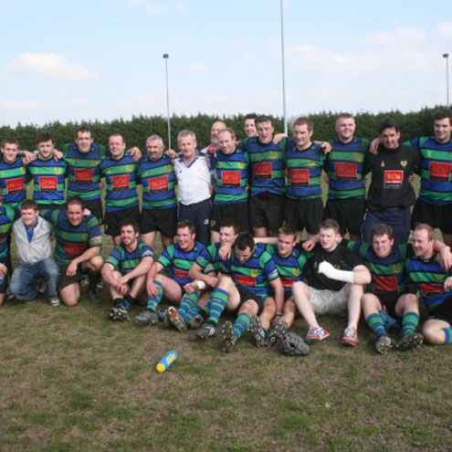 Seapoint celebrate promotion to the Ulster Bank League
