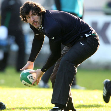 Shane Horgan training with the Irish squad at Donnybrook
