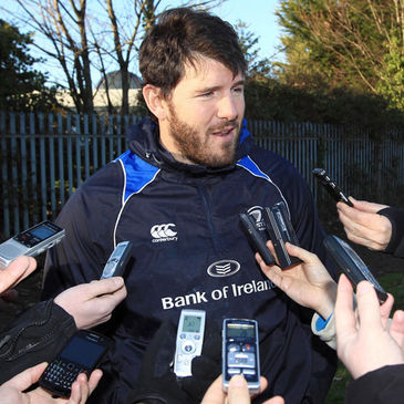 Shane Horgan takes part in a pitchside interview
