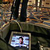 There was a large media presence in the Conrad Hotel, with print, radio and TV journalists interviewing the likes of Leinster's Shane Horgan