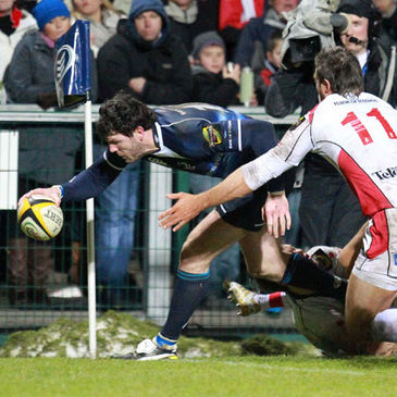 Shane Horgan touches down against Ulster