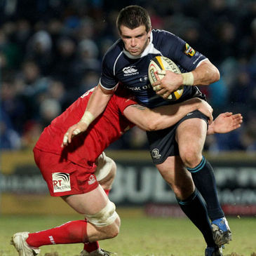 Shane Jennings in action for Leinster against the Scarlets