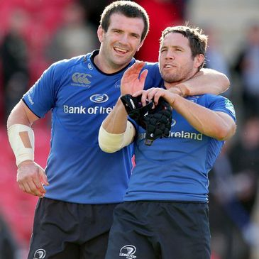 Leinster's Shane Jennings and Isaac Boss