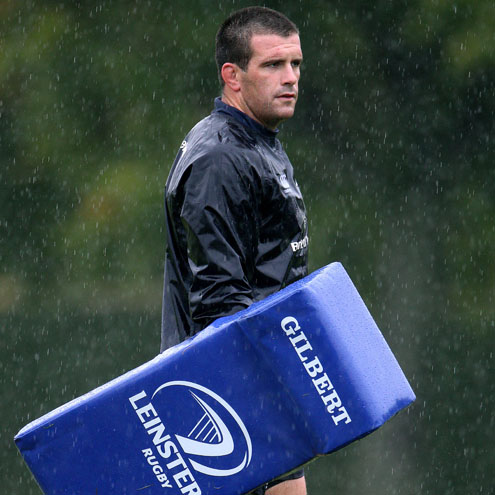 Shane Jennings training with the Leinster squad