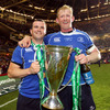 Shane Jennings and Leo Cullen, who have played with both Leinster and Leicester Tigers in their careers, savour their home province's second Heineken Cup triumph