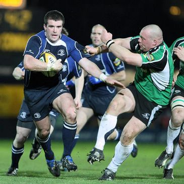 Leinster's Shane Jennings on the attack against Connacht