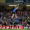 Mike Ross and Sean O'Brien perform the lifting duties, helping replacement flanker Shane Jennings claim a lineout ball