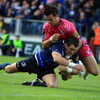 Leinster made a purposeful start against the Blues, with Shane Jennings getting over for a fourth minute try