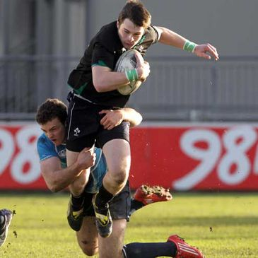 Full-back Shane Layden in action for the Ireland Under-20s