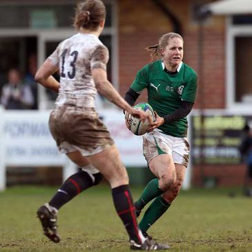 Shannon Houston in action for Ireland against England