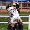 Ireland centre Shannon Houston is sandwiched by England's Katy Mclean and Margaret Alphonsi