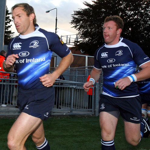 Leinster's Shaun Berne and Stephen Keogh