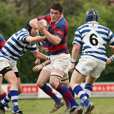 Clontarf's Simon Crawford in action against Dungannon