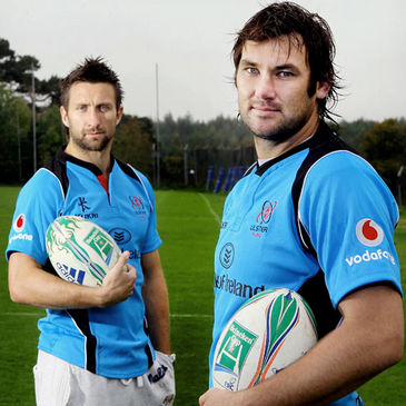 Ulster's Simon Danielli and Pedrie Wannenburg