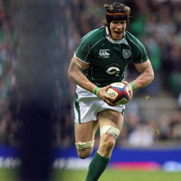 Simon Easterby in action for Ireland