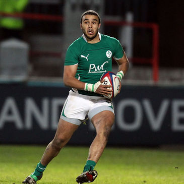 Simon Zebo in action for the Ireland U-20s