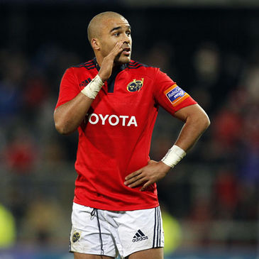 Munster's 21-year-old winger Simon Zebo
