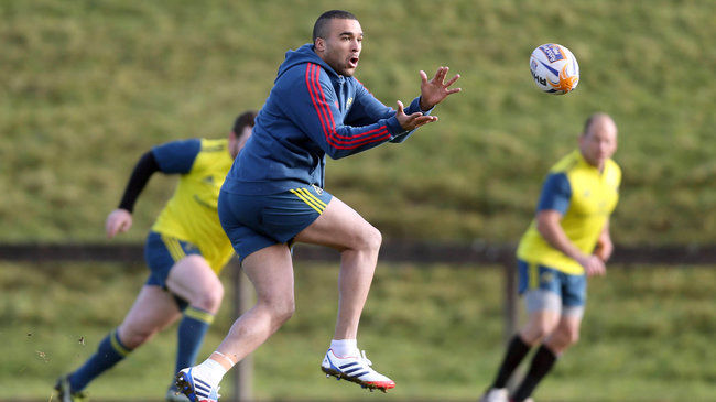 Simon Zebo will start at full-back for Munster