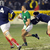 Winger Simon Zebo takes on the French defence during the Ireland Under-20s' second game of the Championship