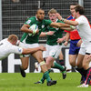 Winger Simon Zebo, arguably Ireland's best player on the day, leads an attack