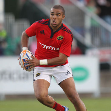 Simon Zebo is pictured in pre-season action for Munster