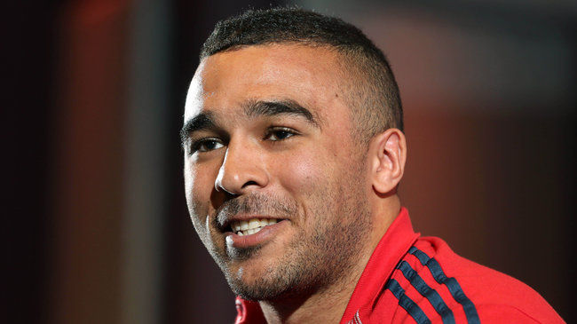 Munster winger Simon Zebo