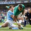 Munster ace Simon Zebo grabs his first international in his just his second appearance as Ireland's starting full-back