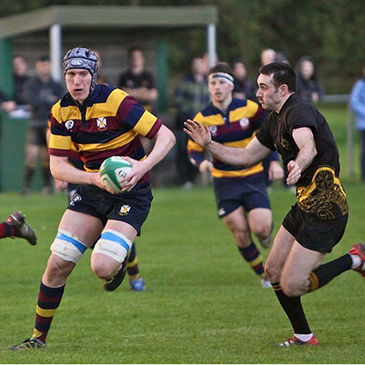 Joe Glennon carries the ball forward for Skerries