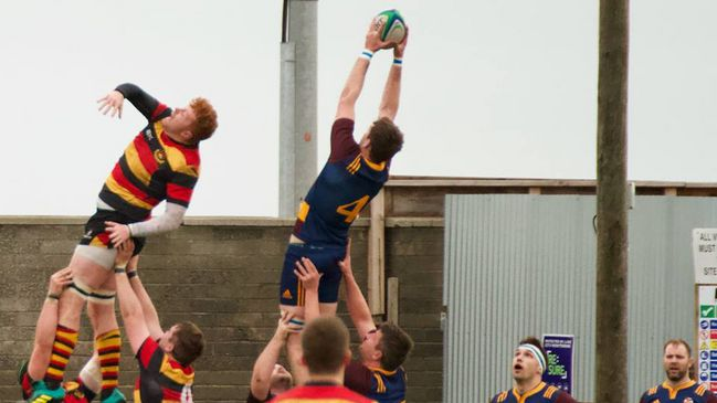 Lineout action from Skerries' clash with Sligo