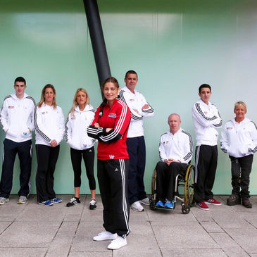 Alison Miller and Alan Quinlan pose with their fellow 'Living for Sport' mentors
