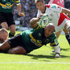 Ulster got off to a nervy start and big prop Soane Tonga'uiha powered through a ruck to score Northampton's opening try