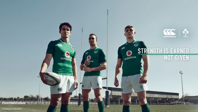 Ireland's Strength Rises With Launch Of New Ireland Rugby Jersey.