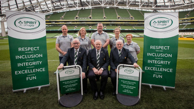 IRFU launch 'Spirit Of Rugby' initiative