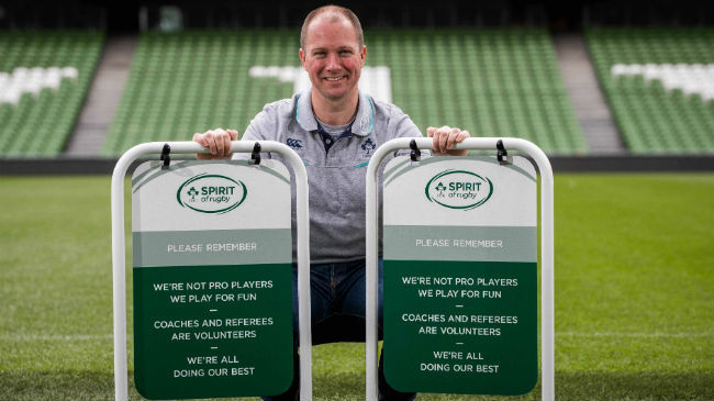 Ireland Stars Support Sideline Behaviour Initiative