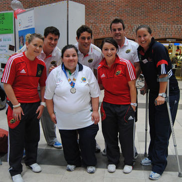 The Munster players lended their support to Cork SportsAbility Day