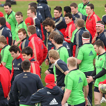 The Munster players trained at the University of Limerick on Tuesday