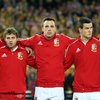 The fit-again Tommy Bowe, making his second successive Test start for the Lions, was flanked by Leigh Halfpenny and Jonathan Sexton in the squad line-up