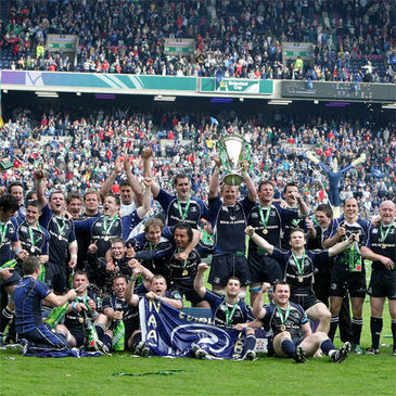 Leinster celebrate their Heineken Cup final win