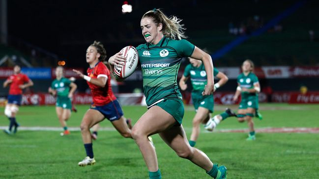Stacey Flood sprints clear for Ireland against Spain