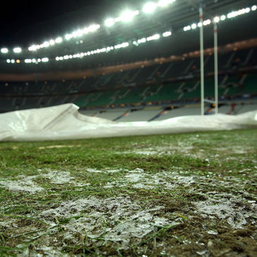 The Stade de France pitch on Saturday night