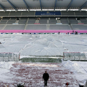 The scene this morning at King Baudouin Stadium
