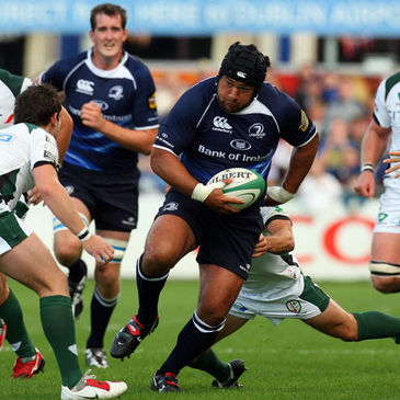 Stan Wright leads the charge for Leinster