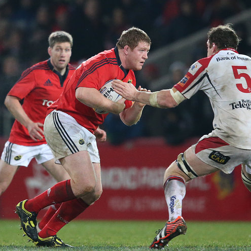 Stephen Archer in action for Munster